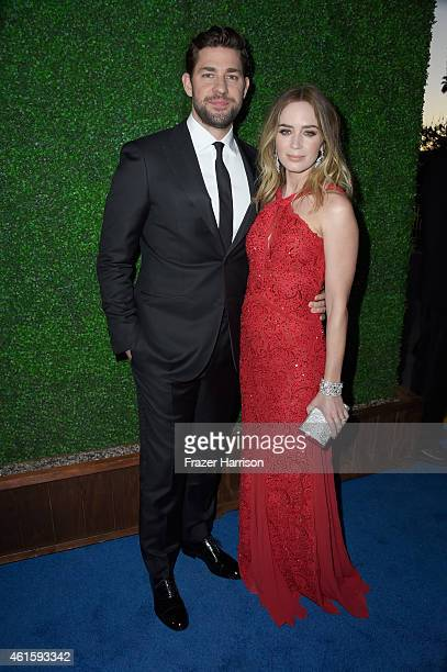 Actors John Krasinski and Emily Blunt attend the 20th annual Critics' Choice Movie Awards at the Hollywood Palladium on January 15 2015 in Los...