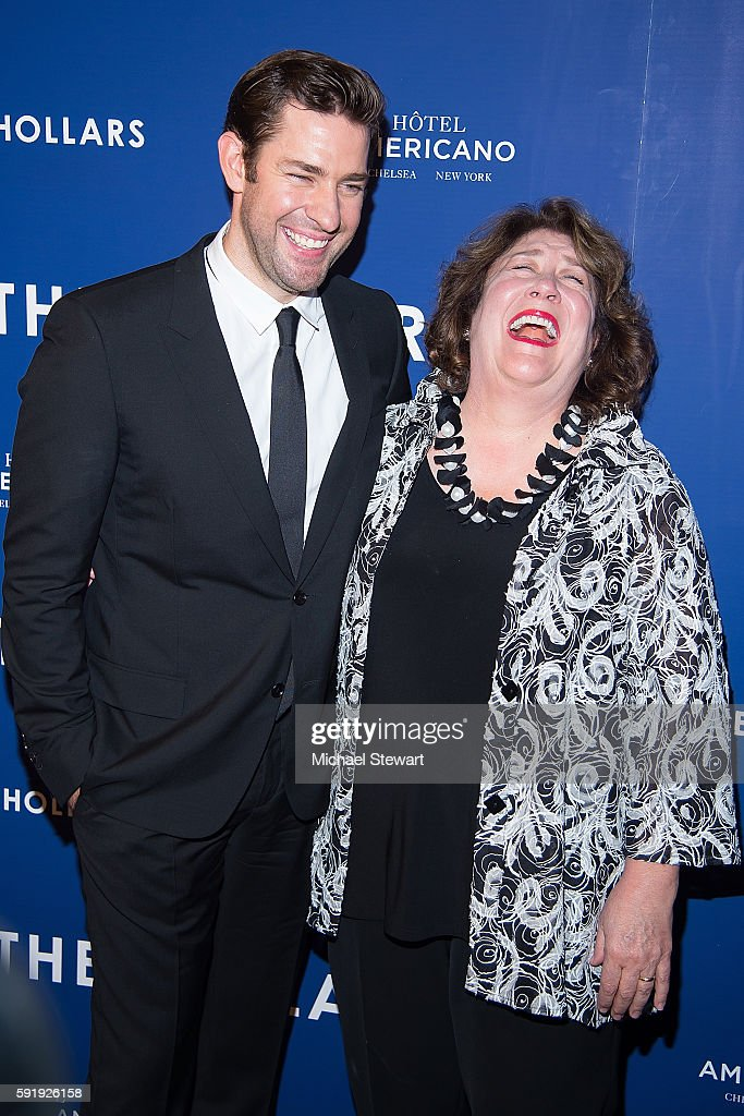 Actors John Krasinski and Margo Martindale attend 'The Hollars' New York screening at Cinepolis Chelsea on August 18 2016 in New York City