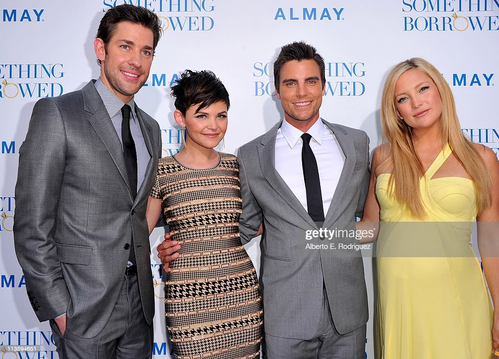Actors <a gi-track='captionPersonalityLinkClicked' href=/galleries/search?phrase=John+Krasinski&family=editorial&specificpeople=646194 ng-click='$event.stopPropagation()'>John Krasinski</a>, <a gi-track='captionPersonalityLinkClicked' href=/galleries/search?phrase=Ginnifer+Goodwin&family=editorial&specificpeople=215039 ng-click='$event.stopPropagation()'>Ginnifer Goodwin</a>, <a gi-track='captionPersonalityLinkClicked' href=/galleries/search?phrase=Colin+Egglesfield&family=editorial&specificpeople=584090 ng-click='$event.stopPropagation()'>Colin Egglesfield</a>, and <a gi-track='captionPersonalityLinkClicked' href=/galleries/search?phrase=Kate+Hudson&family=editorial&specificpeople=156407 ng-click='$event.stopPropagation()'>Kate Hudson</a> arrive at the premiere of Warner Bros. 'Something Borrowed' held at Grauman's Chinese Theatre on May 3, 2011 in Hollywood, California.