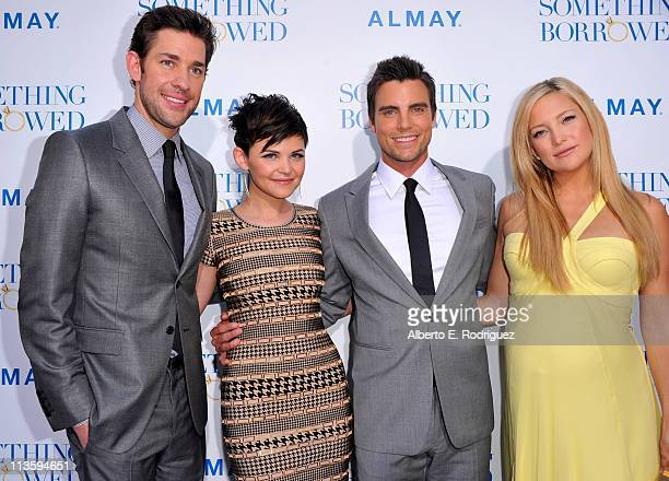 Actors John Krasinski Ginnifer Goodwin Colin Egglesfield and Kate Hudson arrive at the premiere of Warner Bros 'Something Borrowed' held at Grauman's...