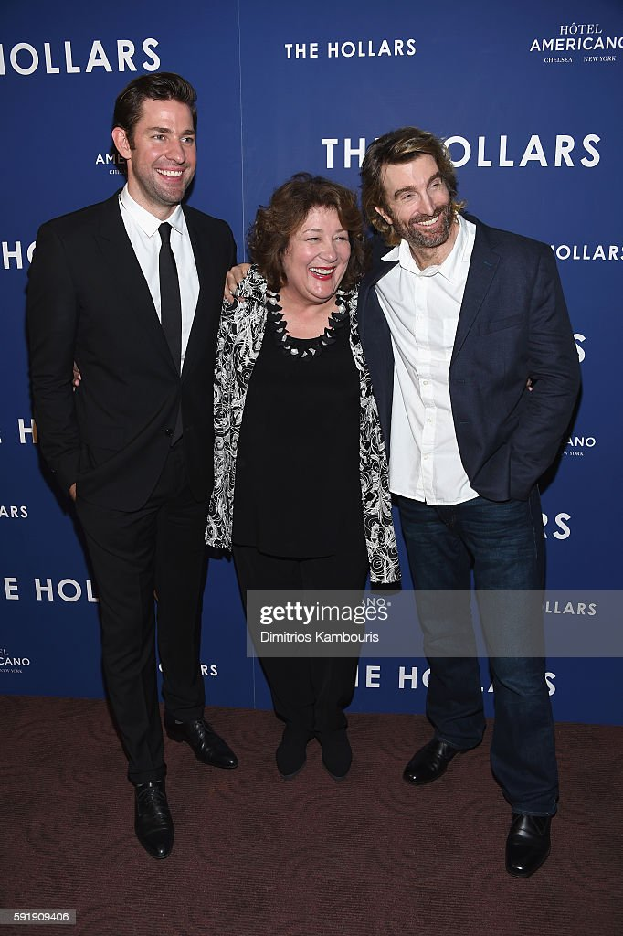 Actors John Krasinski Margo Martindale and Sharlto Copley attend 'The Hollars' New York Screening at Cinepolis Chelsea on August 18 2016 in New York...