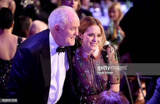 Actors John Lithgow and Claire Foy attend The 23rd Annual Screen Actors Guild Awards at The Shrine Auditorium on January 29 2017 in Los Angeles...