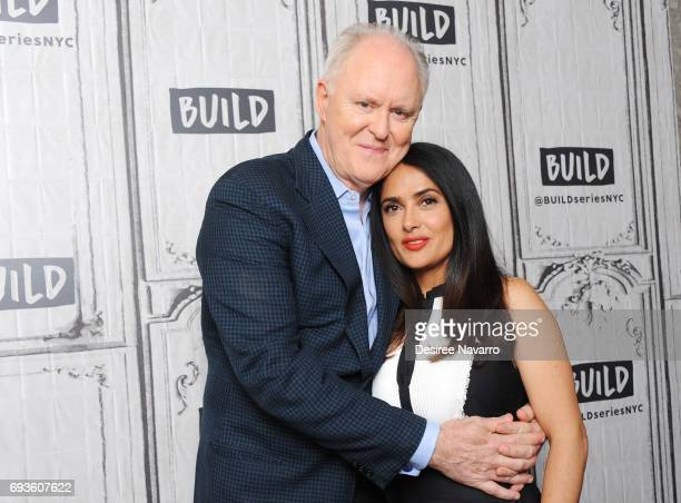 Actors John Lithgow and Salma Hayek attend Build to discuss 'Beatriz At Dinner' at Build Studio on June 7 2017 in New York City