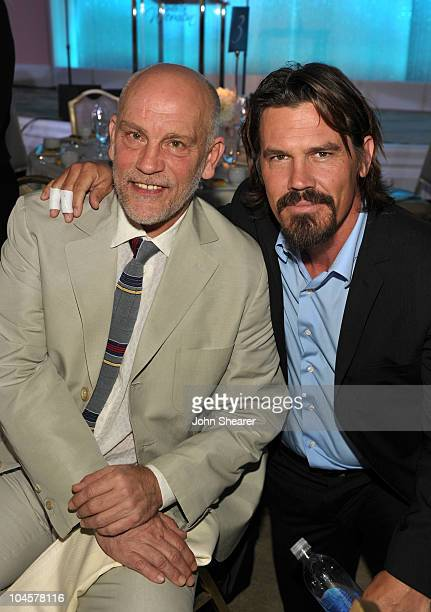 Actors John Malkovich and Josh Brolin attend Variety's 2nd Annual Power Of Women Luncheon at the Beverly Hills Hotel on September 30 2010 in Beverly...