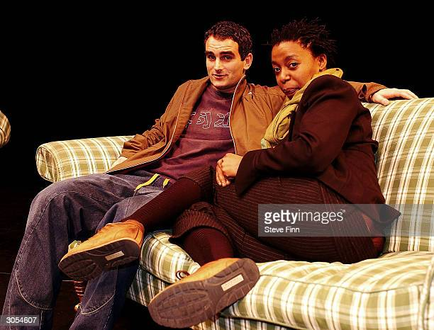 Actors John Marquez and Noma Dumezweni attend the Chichester Theatre Season Launch on March 8 2004 in Chichester West Sussex England Season includes...