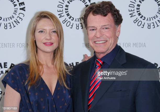 Actors John Noble and Anna Torv attend an evening with 'Fringe' at The Paley Center for Media on May 19 2011 in Beverly Hills California