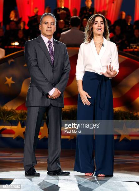 Actors John Ortiz and Ana Ortiz perfom at PBS' 2017 National Memorial Day Concert at US Capitol West Lawn on May 28 2017 in Washington DC
