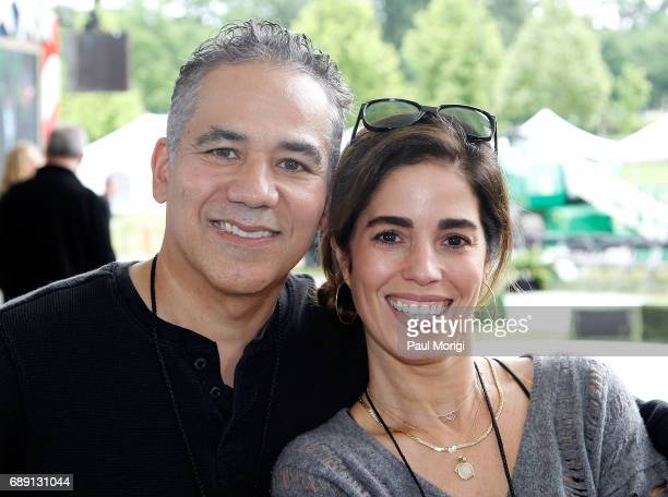 Actors John Ortiz from 'Kong Skull Island' and Ana Ortiz from 'Ugly Betty' at PBS' 2017 National Memorial Day Concert Rehearsals at US Capitol West...