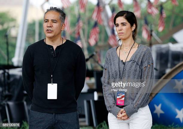 Actors John Ortiz from 'Kong Skull Island' and Ana Ortiz from 'Ugly Betty' rehearse for PBS' 2017 National Memorial Day Concert at US Capitol West...