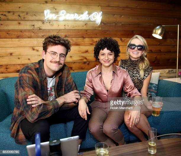 Actors John Reynolds Alia Shawkat and Meredith Hagner attend TBS 'In Search Of' PopUp Marketplace at SXSW 2017 on March 14 2017 in Austin Texas