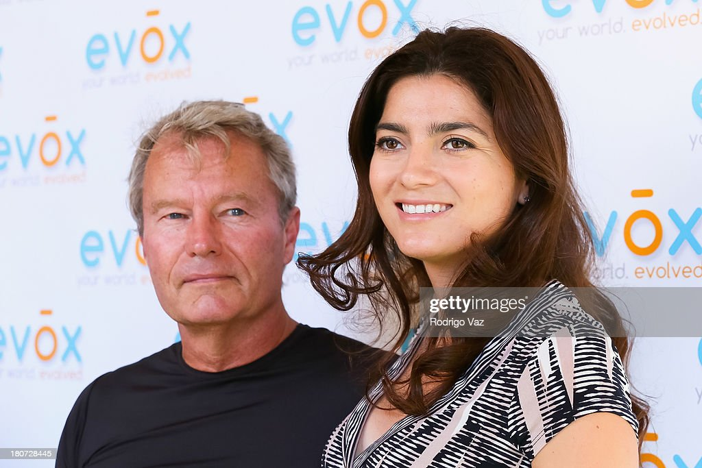 Actors John Savage (L) and Blanca Blanco attends green carpet launch of Evox TV debuting Ed Begley's new family show 'On Begley Street' on September 15, 2013 in Pasadena, California.