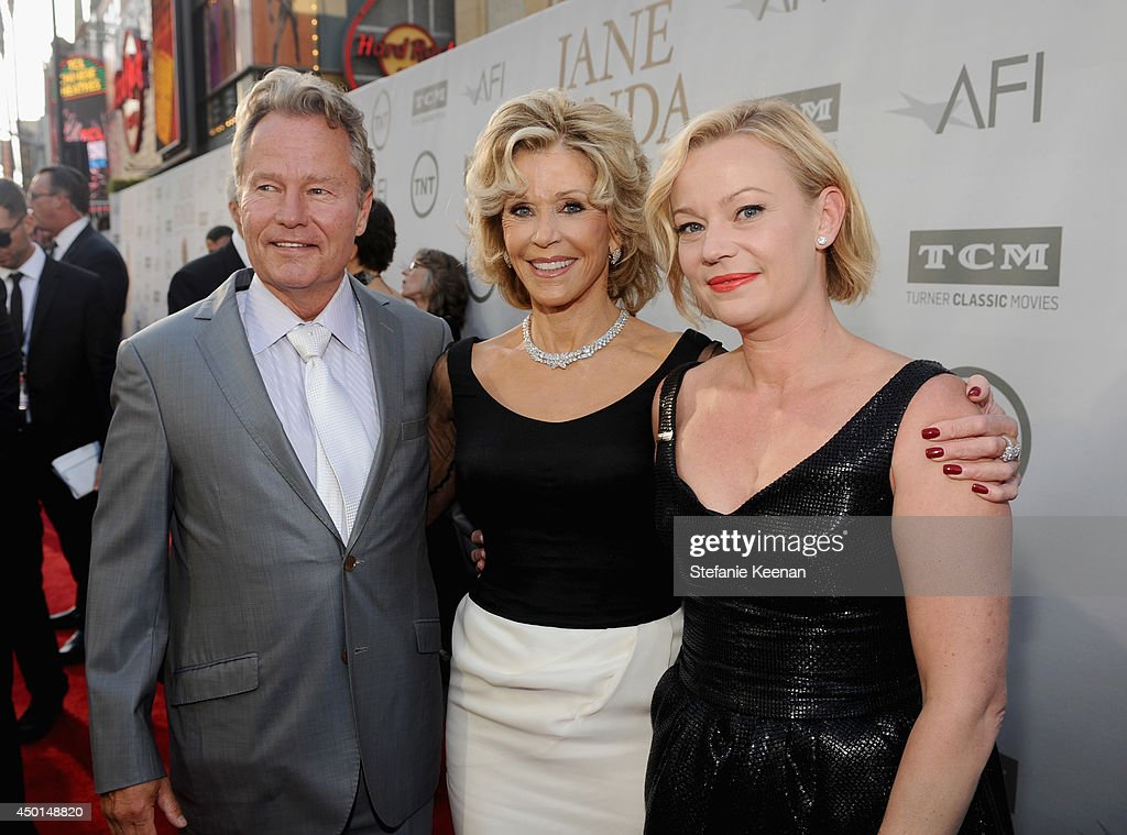 Actors John Savage, Honoree Jane Fonda, and Samantha Mathis attend the 2014 AFI Life Achievement Award: A Tribute to Jane Fonda at the Dolby Theatre on June 5, 2014 in Hollywood, California. Tribute show airing Saturday, June 14, 2014 at 9pm ET/PT on TNT.