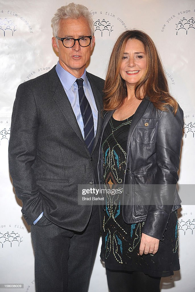 Actors <a gi-track='captionPersonalityLinkClicked' href=/galleries/search?phrase=John+Slattery&family=editorial&specificpeople=857095 ng-click='$event.stopPropagation()'>John Slattery</a> and his wife <a gi-track='captionPersonalityLinkClicked' href=/galleries/search?phrase=Talia+Balsam&family=editorial&specificpeople=857309 ng-click='$event.stopPropagation()'>Talia Balsam</a> attend the New York Stage and Film Annual Winter Gala at The Plaza Hotel on December 9, 2012 in New York City.