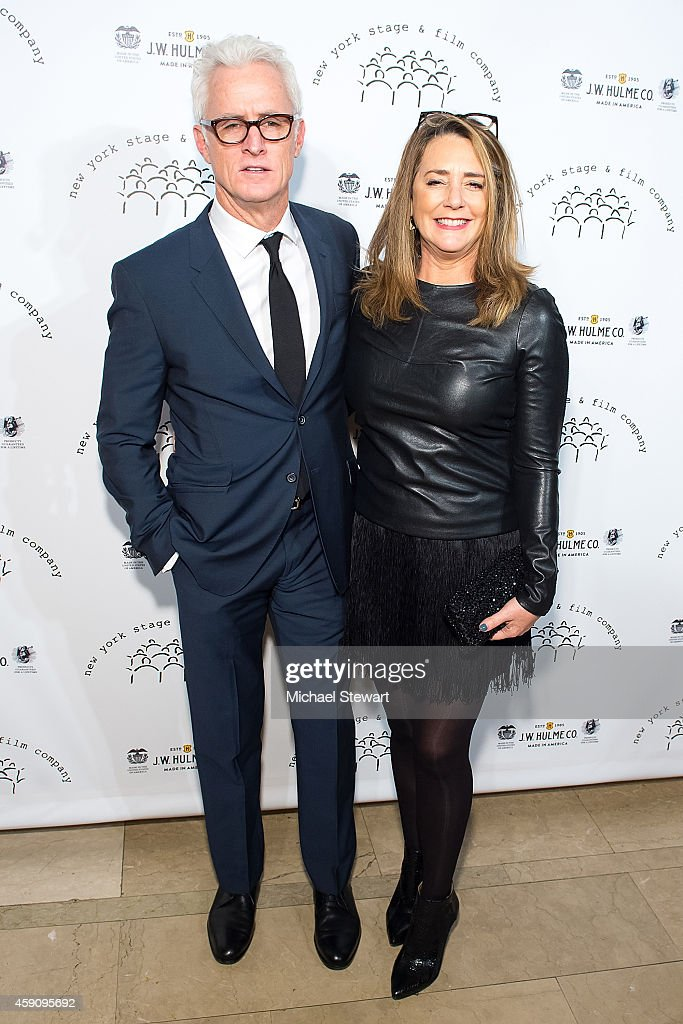 Actors John Slattery (L) and Talia Balsam attend the 2014 New York Stage And Film Winter Gala at The Plaza Hotel on November 16, 2014 in New York City.