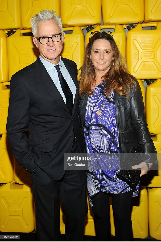 Actors <a gi-track='captionPersonalityLinkClicked' href=/galleries/search?phrase=John+Slattery&family=editorial&specificpeople=857095 ng-click='$event.stopPropagation()'>John Slattery</a> and wife <a gi-track='captionPersonalityLinkClicked' href=/galleries/search?phrase=Talia+Balsam&family=editorial&specificpeople=857309 ng-click='$event.stopPropagation()'>Talia Balsam</a> attends 7th Annual Charity Ball Benefiting Charity:Water at the 69th Regiment Armory on December 10, 2012 in New York City.
