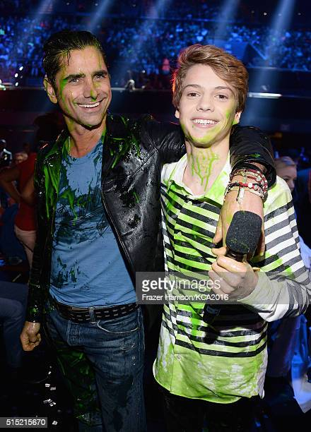 Actors John Stamos and Jace Norman attend Nickelodeon's 2016 Kids' Choice Awards at The Forum on March 12 2016 in Inglewood California