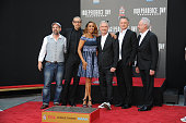 Actors John Storey Jeff Goldblum Vivica A Fox director Roland Emmerich actors Bill Pullman and Brent Spiner attend the hand and footprint ceremony...