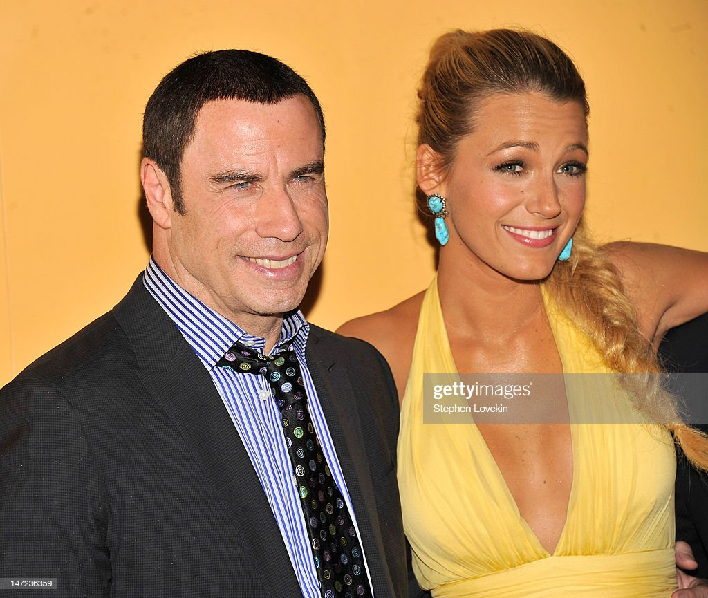 Actors John Travolta and Blake Lively attend the 'Savages' New York premiere at SVA Theater on June 27, 2012 in New York City.