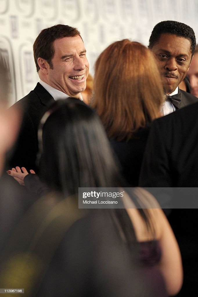 Actors <a gi-track='captionPersonalityLinkClicked' href=/galleries/search?phrase=John+Travolta&family=editorial&specificpeople=178204 ng-click='$event.stopPropagation()'>John Travolta</a> and Lawrence Hilton-Jacobs attend the 9th Annual TV Land Awards at the Javits Center on April 10, 2011 in New York City.