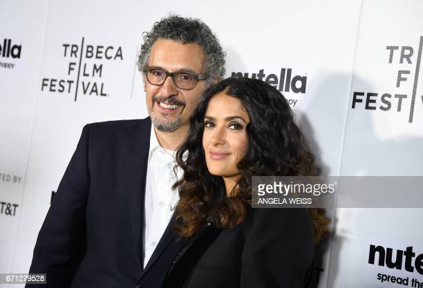Actors John Turturro and Salma Hayek attend the Premiere of '11th Hour' during the 2017 Tribeca Film Festival at SVA Theater on April 21 2017 in New...