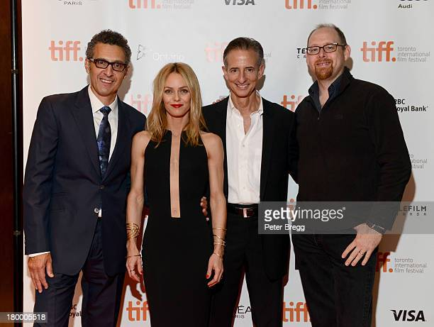 Actors John Turturro and Vanessa Paradis with Producers Bill Block and Jeff LevyHinte arrive for 'Fading Gigolo' Premiere 2013 Toronto International...