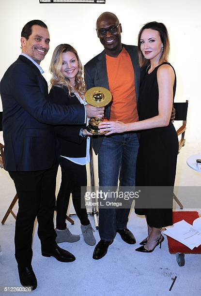 Actors Johnathon Schaech Clare Kramer Lance Reddick and Brianne Davis read the Nominations for the 42nd Annual Saturn Awards held at Geek Nation...