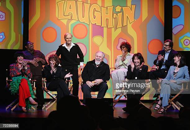 Actors Johnny Brown Jo Anne Worley Alan Sues Ruth Buzzi producer George Schlatter Chelsea Brown Lily Tomlin Gary Owens and Barbara Feldon attend the...
