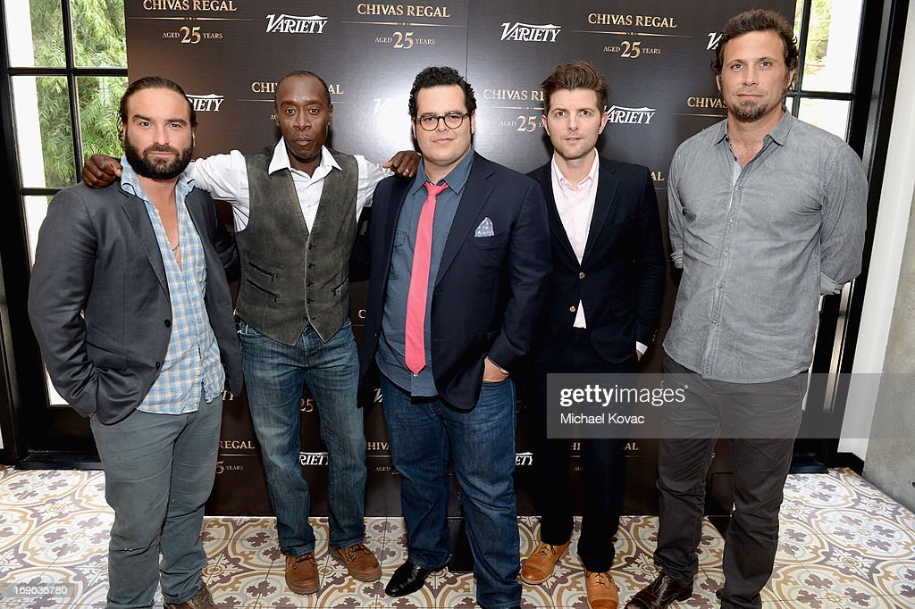 Actors Johnny Galecki, Don Cheadle, Josh Gad, Adam Scott and Jeremy Sisto attend the Variety Emmy Studio at Palihouse on May 29, 2013 in West Hollywood, California.