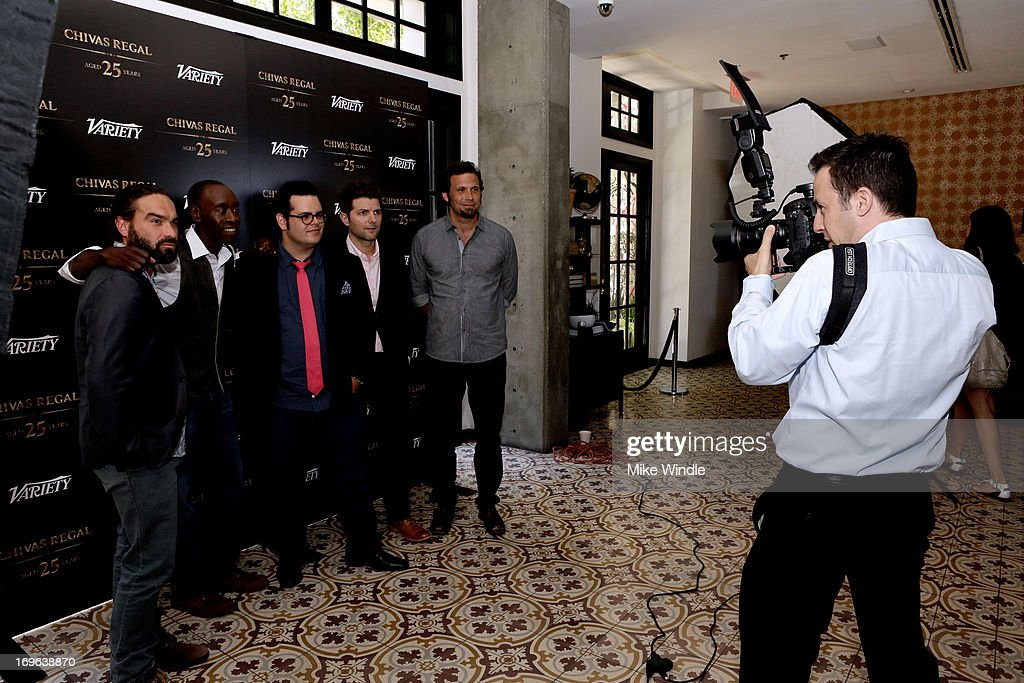 Actors Johnny Galecki, Don Cheadle, Josh Gad, Adam Scott, and Jeremy Sisto attend the Variety Emmy Studio at Palihouse on May 29, 2013 in West Hollywood, California.