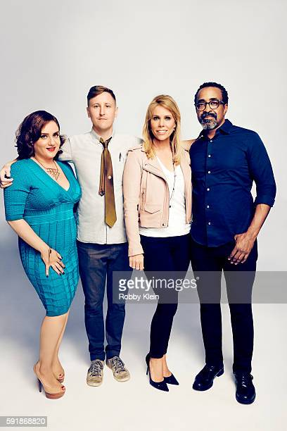 Actors Johnny Pemberto Artemis Pebdani Tim Meadows and Cheryl Hines from FOX's 'Son of Zorn' pose for a portrait at the FOX Summer TCA Press Tour at...