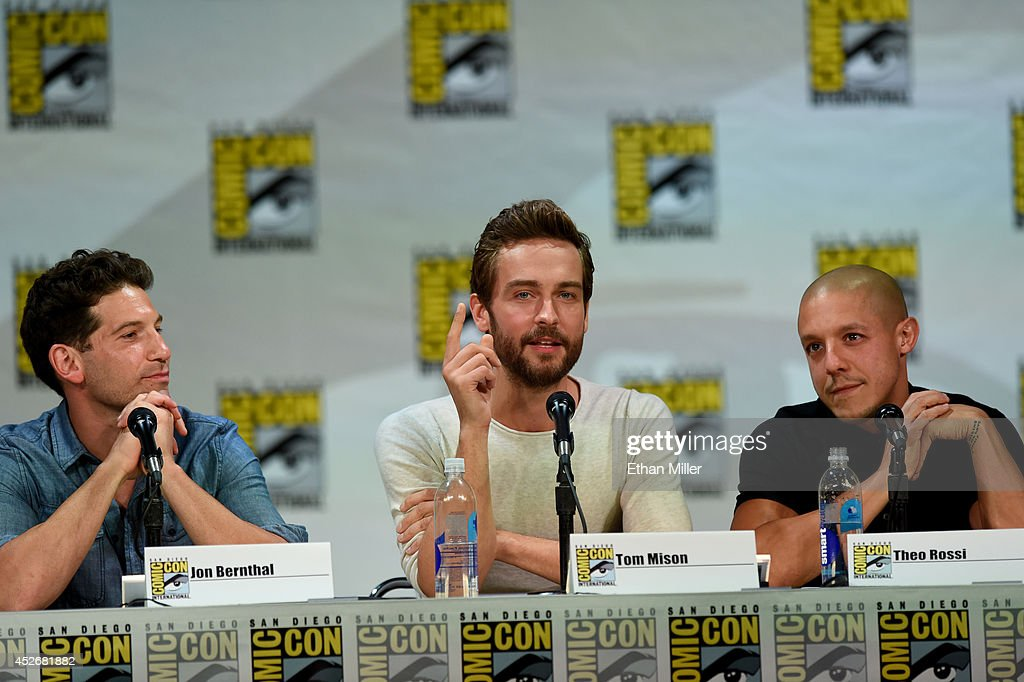 Actors Jon Bernthal, Tom Mison and Theo Rossi attend the Entertainment Weekly: Brave New Warriors panel during Comic-Con International 2014 at the San Diego Convention Center on July 25, 2014 in San Diego, California.
