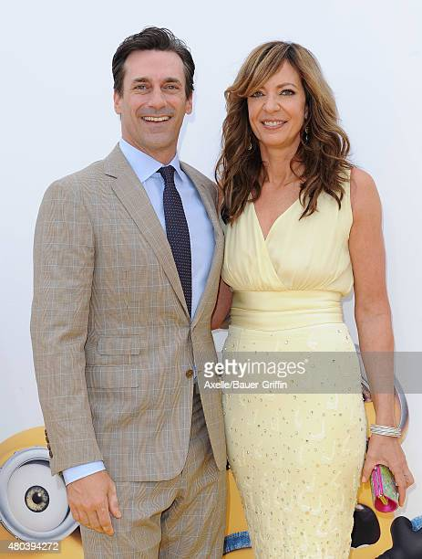 Actors Jon Hamm and Allison Janney arrive at the premiere of Universal Pictures and Illumination Entertainment's 'Minions' at The Shrine Auditorium...