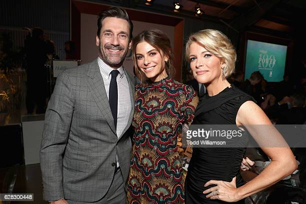 Actors Jon Hamm Maria Menounos and Honoree Megyn Kelly attend The Hollywood Reporter's Annual Women in Entertainment Breakfast in Los Angeles at Milk...