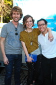 Actors Jon Heder Tina Majorino and Efren Ramirez attend Fox's 'Napoleon Dynamite' SoundALike Contest at Hollywood and Highland on January 5 2012 in...