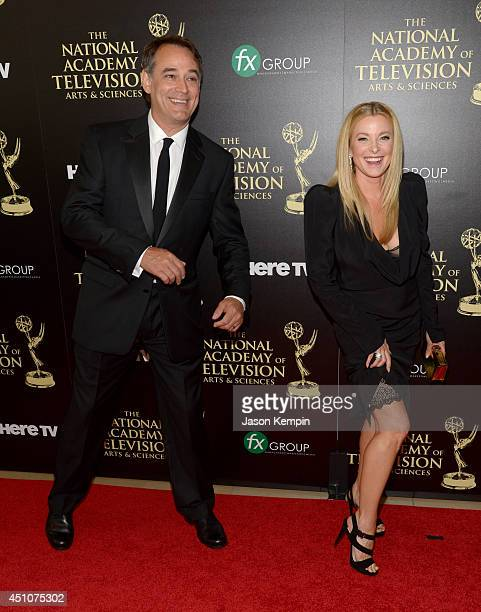 Actors Jon Lindstrom and Cady McClain attend The 41st Annual Daytime Emmy Awards at The Beverly Hilton Hotel on June 22 2014 in Beverly Hills...
