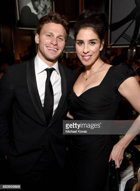 Actors Jon Rudnitsky and Sarah Silverman attend American Film Institute's 45th Life Achievement Award Gala Tribute to Diane Keaton at Dolby Theatre...