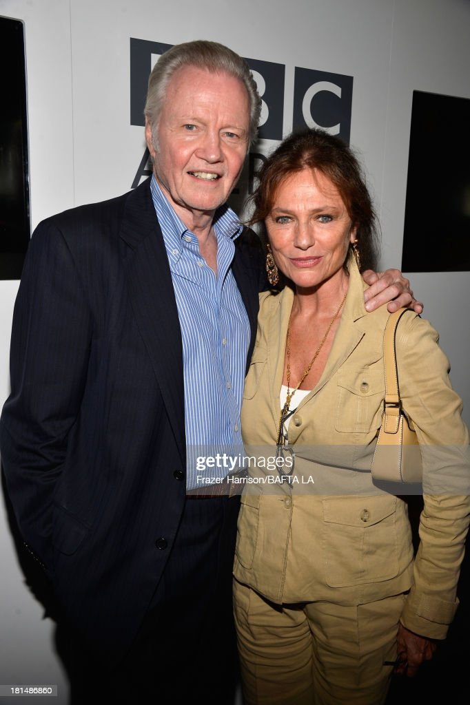 Actors <a gi-track='captionPersonalityLinkClicked' href=/galleries/search?phrase=Jon+Voight&family=editorial&specificpeople=202872 ng-click='$event.stopPropagation()'>Jon Voight</a> and <a gi-track='captionPersonalityLinkClicked' href=/galleries/search?phrase=Jacqueline+Bisset&family=editorial&specificpeople=204696 ng-click='$event.stopPropagation()'>Jacqueline Bisset</a> attend the BAFTA LA TV Tea 2013 presented by BBC America and Audi held at the SLS Hotel on September 21, 2013 in Beverly Hills, California.