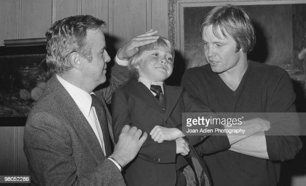 Actors Jon Voight and Ricky Schroder attend the premiere of their movie 'The Champ' with the director Franco Zeffirelli on April 4 1979 in Los...