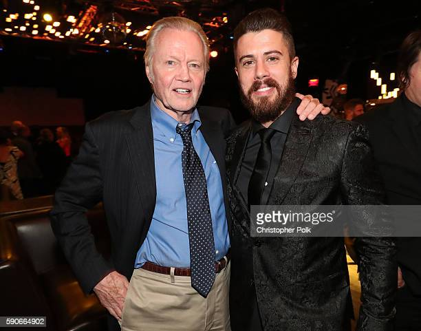 "Actors Jon Voight and Toby Kebbell attend the afterparty for the LA Premiere of the Paramount Pictures and MetroGoldwynMayer Pictures title ""BenHur""..."