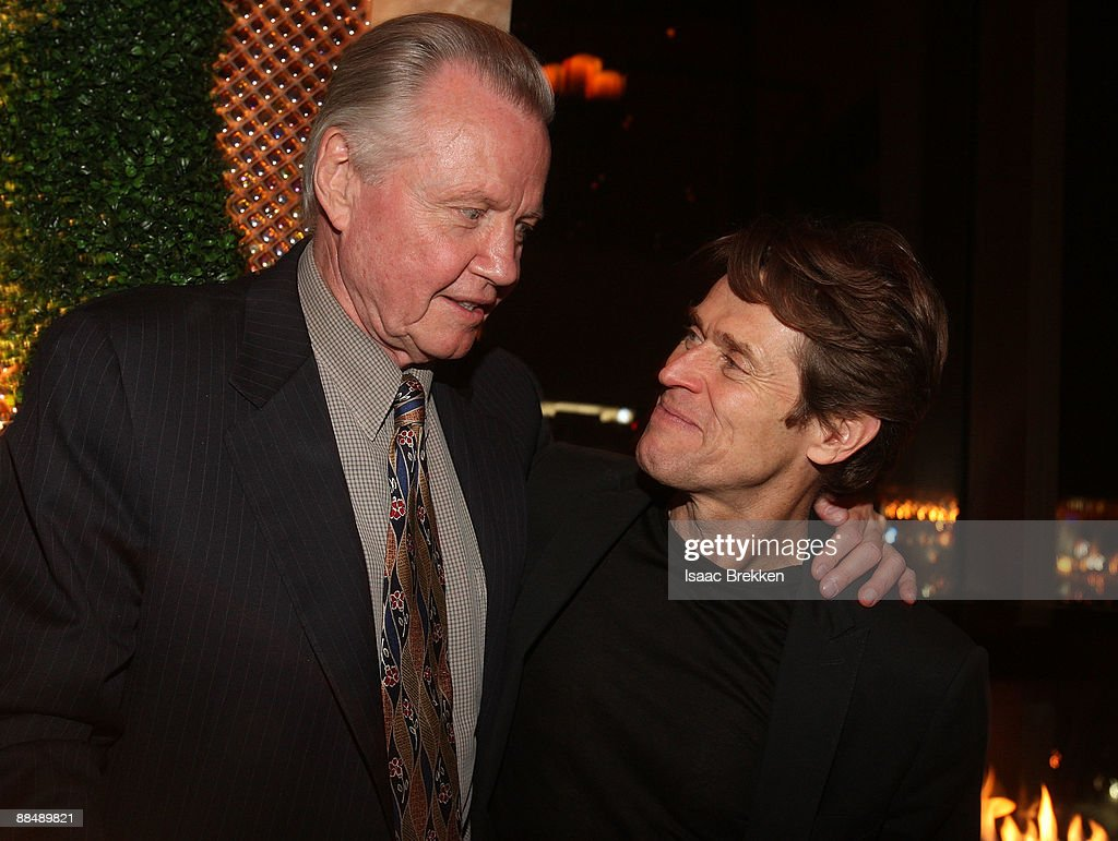Actors Jon Voight (L) and Willem Dafoe attend the honoree dinner during the 11th annual CineVegas film festival held at the Nove Italiano restaurant on June 14, 2009 in Las Vegas, Nevada.