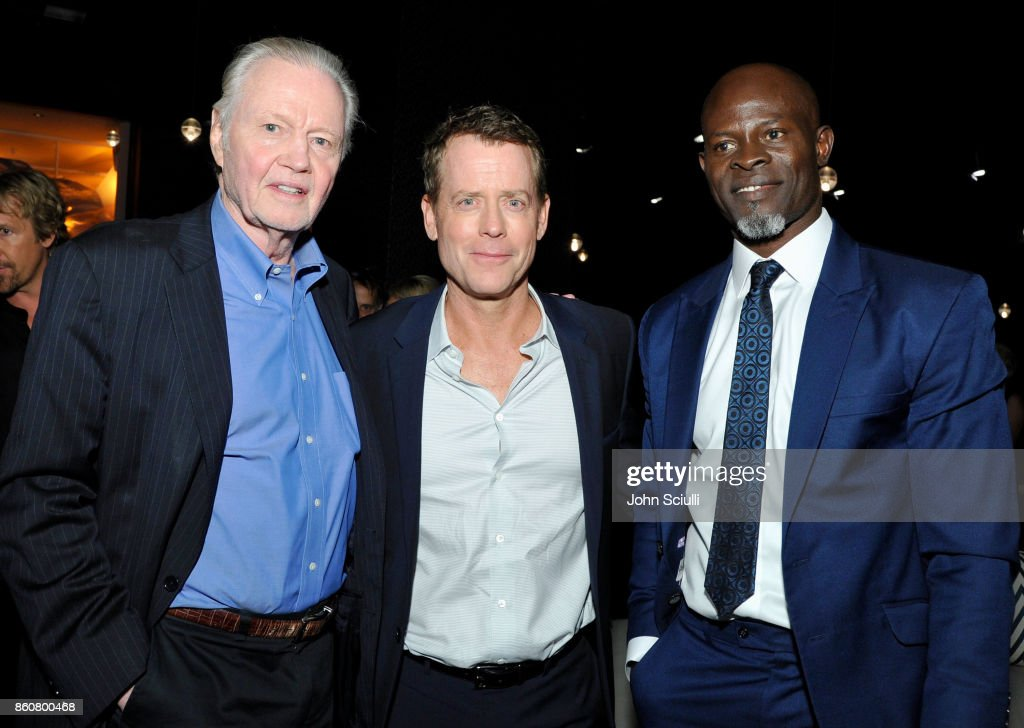 Actors Jon Voight, Greg Kinnear and Djimon Hounsou attend Same Kind Of Different As Me Premiere on October 12, 2017 in Los Angeles, California.