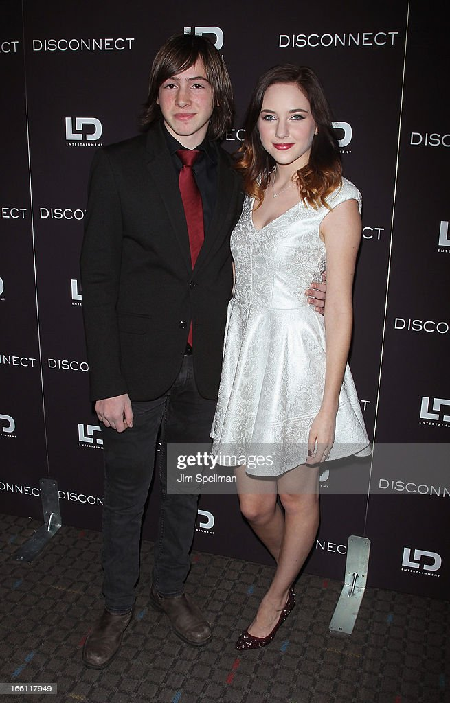 Actors Jonah Bobo and Haley Ramm attend 'Disconnect' New York Special Screening at SVA Theater on April 8 2013 in New York City