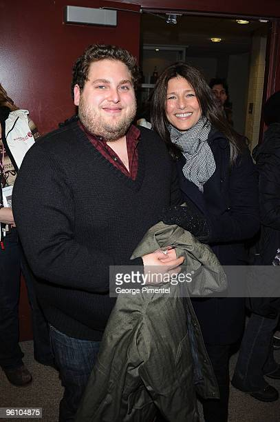Actors Jonah Hill and Catherine Keener attend the 'Cyrus' premiere during the 2010 Sundance Film Festival at Eccles Center Theatre on January 23 2010...