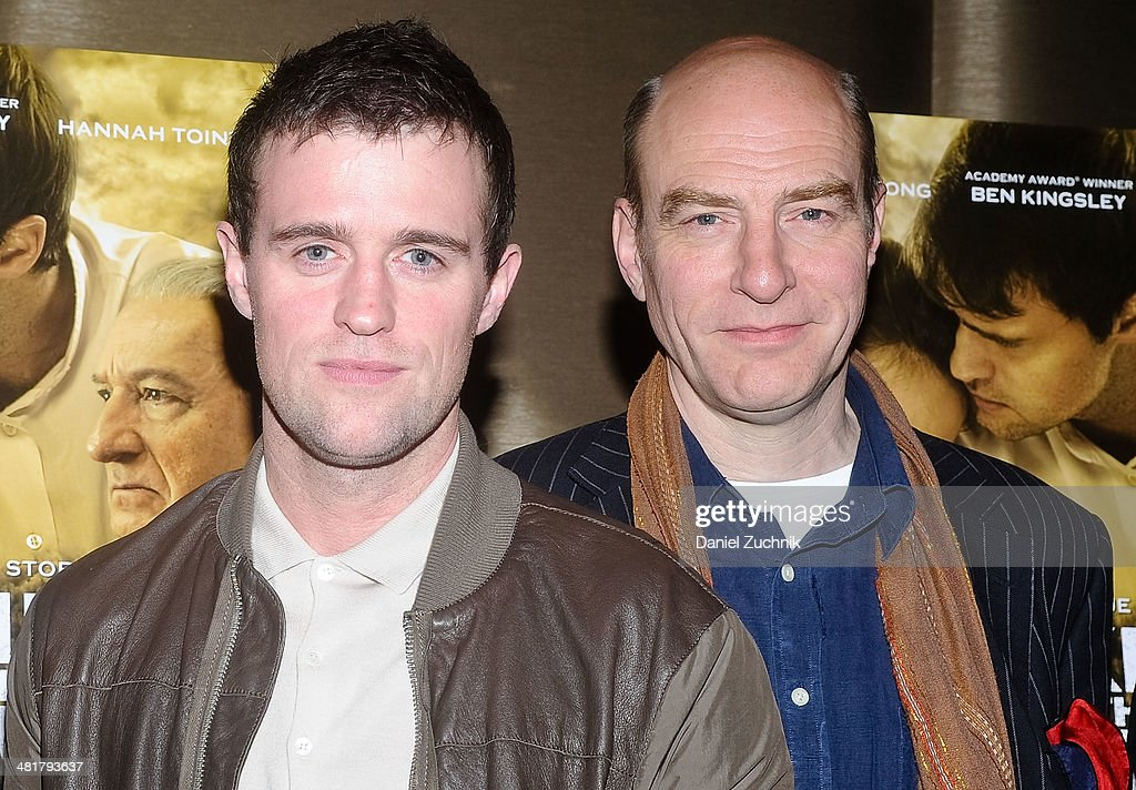 Actors Jonas Armstrong and Simon Kunz attend the 'Walking With The Enemy' screening at Dolby 88 Theater on March 31, 2014 in New York City.