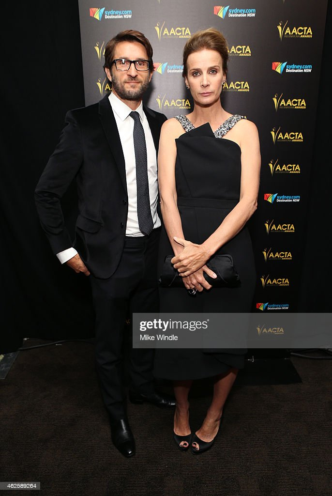 Actors Jonathan LaPaglia (L) and Rachel Griffiths attend the 2015 G'Day USA GALA featuring the AACTA International Awards presented by QANTAS at Hollywood Palladium on January 31, 2015 in Los Angeles, California.