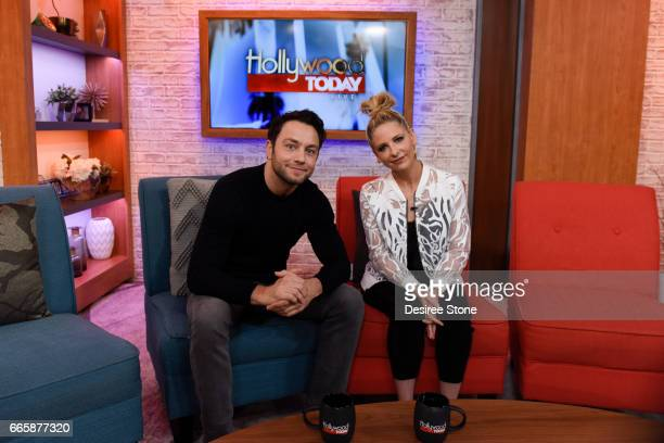 Actors Jonathan Sadowski and Sarah Michelle Gellar appear on Hollywood Today Live at W Hollywood on April 7 2017 in Hollywood California