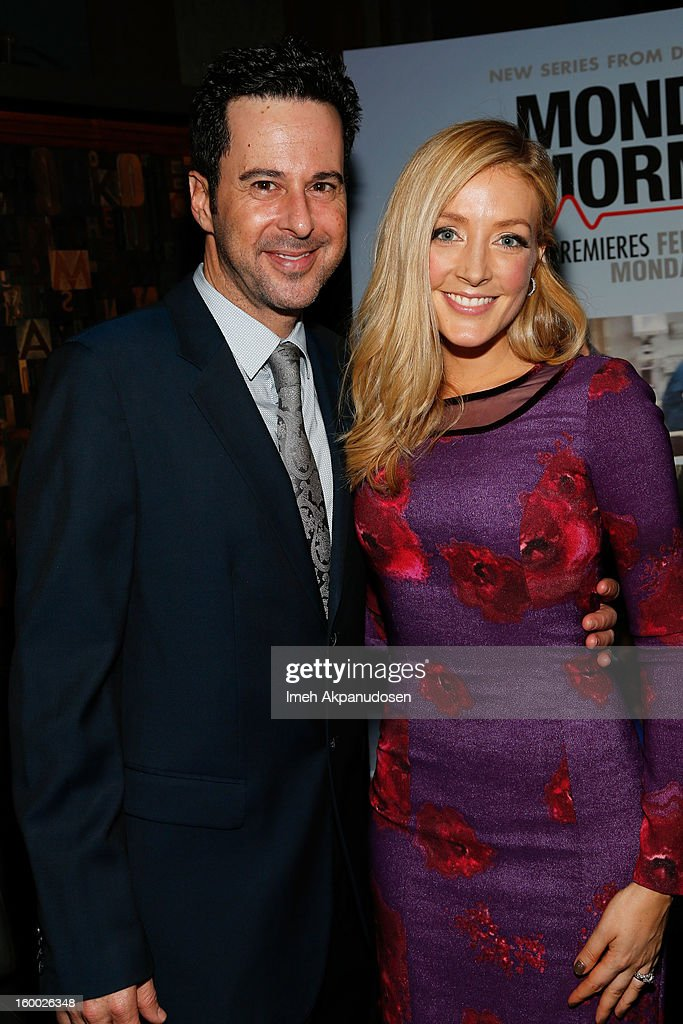 Actors <a gi-track='captionPersonalityLinkClicked' href=/galleries/search?phrase=Jonathan+Silverman&family=editorial&specificpeople=228073 ng-click='$event.stopPropagation()'>Jonathan Silverman</a> (L) and <a gi-track='captionPersonalityLinkClicked' href=/galleries/search?phrase=Jennifer+Finnigan&family=editorial&specificpeople=213001 ng-click='$event.stopPropagation()'>Jennifer Finnigan</a> attend the screening of TNT's 'Monday Mornings' at BOA Steakhouse on January 24, 2013 in West Hollywood, California.