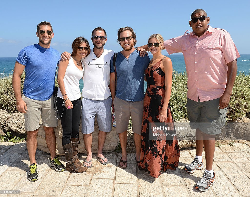 Actors <a gi-track='captionPersonalityLinkClicked' href=/galleries/search?phrase=Jonathan+Togo&family=editorial&specificpeople=682661 ng-click='$event.stopPropagation()'>Jonathan Togo</a>, <a gi-track='captionPersonalityLinkClicked' href=/galleries/search?phrase=Vanessa+Marcil&family=editorial&specificpeople=212875 ng-click='$event.stopPropagation()'>Vanessa Marcil</a>, <a gi-track='captionPersonalityLinkClicked' href=/galleries/search?phrase=Carmine+Giovinazzo&family=editorial&specificpeople=225065 ng-click='$event.stopPropagation()'>Carmine Giovinazzo</a>, AJ Buckley, Abigail Ochse, Omar Benson Miller visit Jaffa's old city on May 31, 2012 in Tel Aviv, Israel.