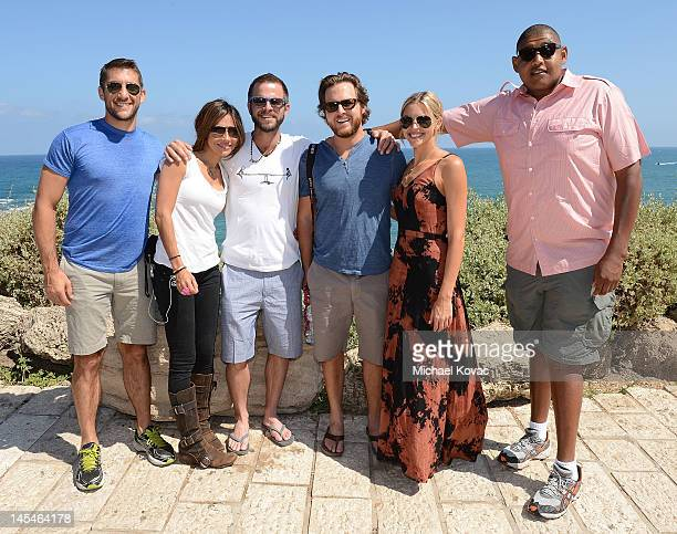 Actors Jonathan Togo Vanessa Marcil Carmine Giovinazzo AJ Buckley Abigail Ochse Omar Benson Miller visit Jaffa's old city on May 31 2012 in Tel Aviv...