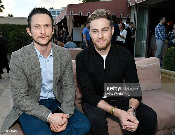 Actors Jonathan Tucker and Cameron Fuller attend MEN'S FITNESS Celebrates the 2016 GAME CHANGERS at Sunset Tower Hotel on October 10 2016 in West...